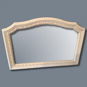 Large egg & dart plaster frame mirror