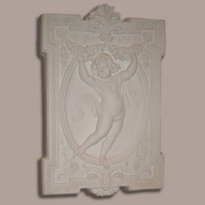 Square cherub Plaque