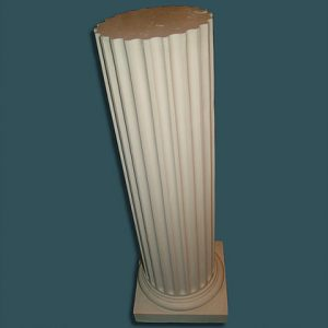 Fluted no top Pedestal