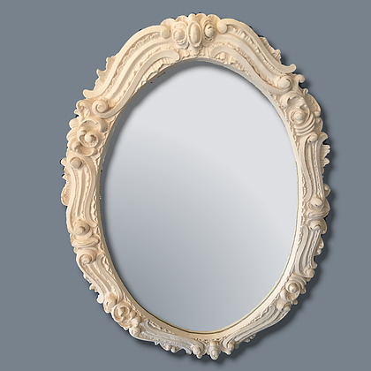 Large oval decorative mirror