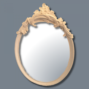 Floral Oval Mirror