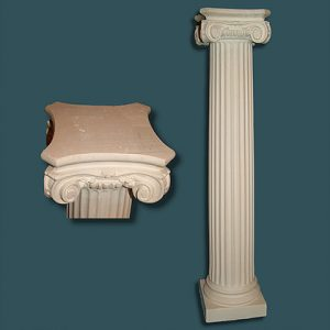 Slim Tall Fluted Pedestal