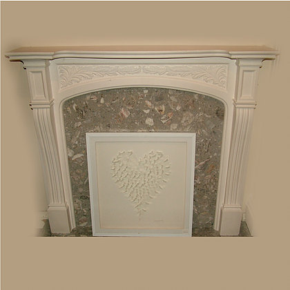 CARVED ACANTHUS FIREPLACE