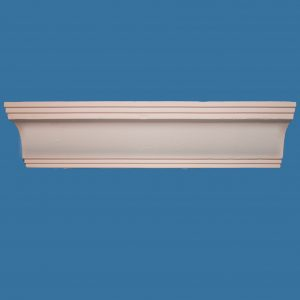 AB21 Small modern coving / cornice with detailed step top and bottom