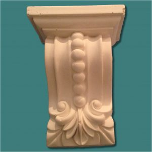 SMALL SCROLL DETAIL WITH BEAD CORBEL 27