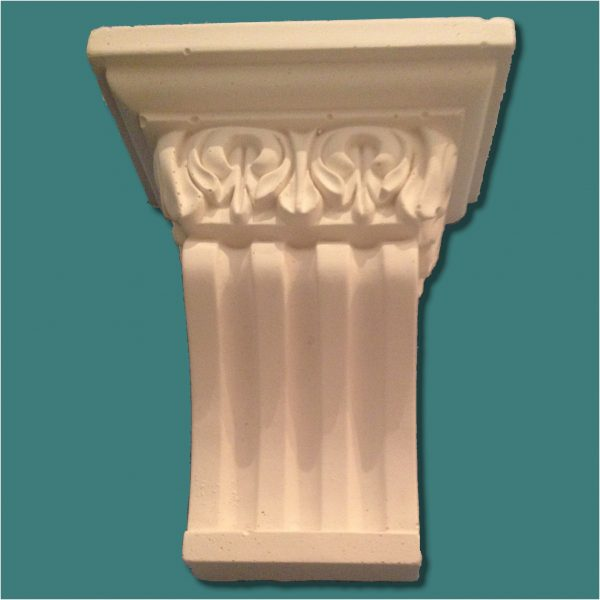 SMALL FLUTED WITH LEAF DETAIL CORBEL 28