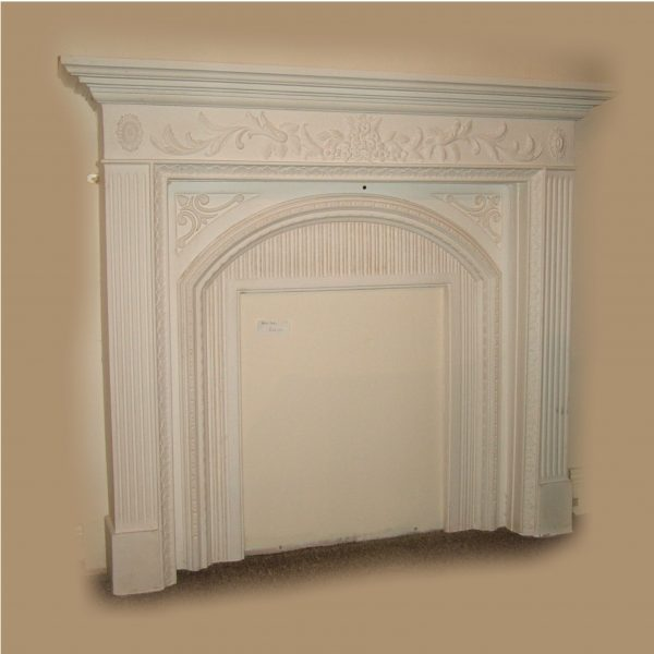 FLORAL FIREPLACE WITH BACK PANEL - SMALL